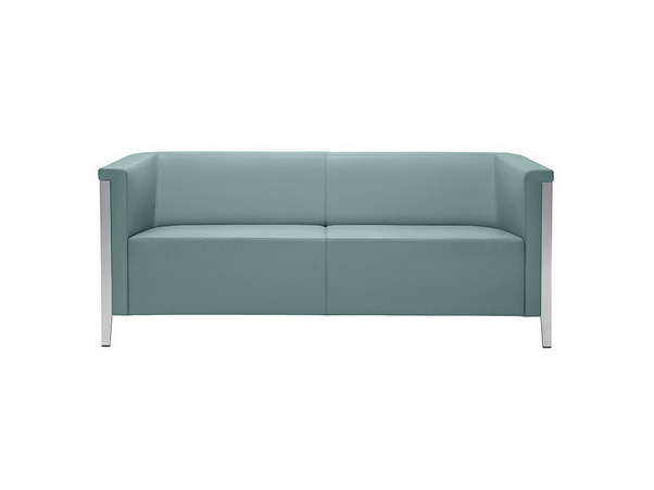 2 seater leather sofa COLLAR | Leather sofa by Brunner