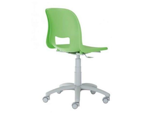 Sedia ufficio operativa ergonomica a 5 razze con ruote vera by