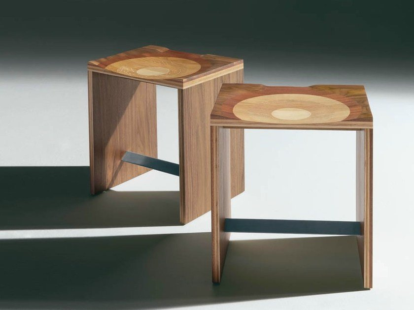 Solid wood stool RIPPLES | Stool by Casamania & Horm