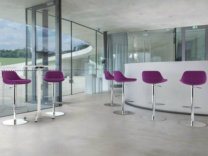 Swivel height-adjustable stool CRONA BAR | Height-adjustable stool by Brunner