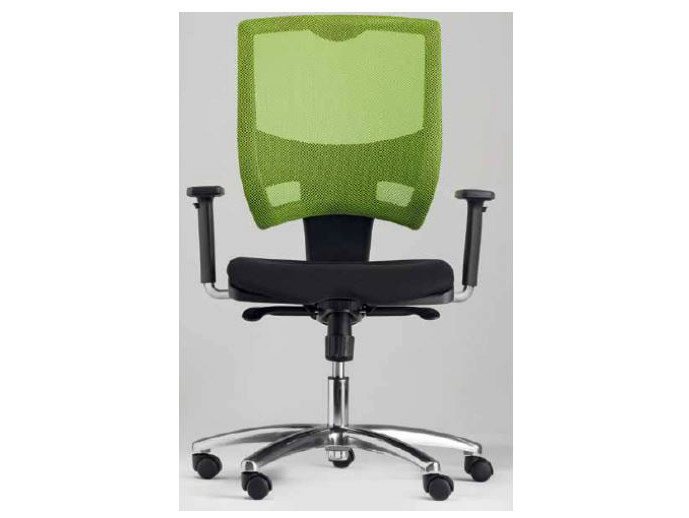 Height-adjustable task chair with casters METAL by Castellani.it