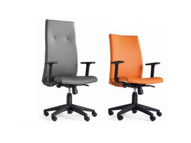 Executive chair with 5-spoke base with casters DAMA by Castellani.it