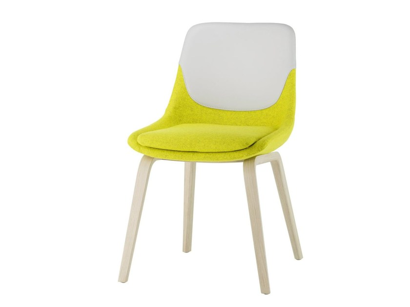 Upholstered fabric chair CRONA | Chair by Brunner