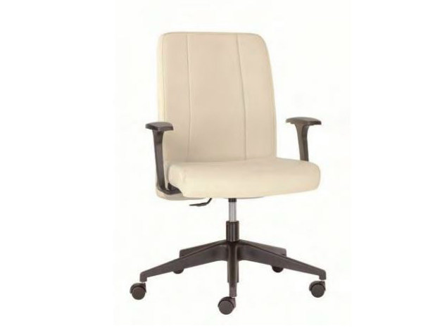 Height-adjustable medium back executive chair OXFORD | Executive chair with casters by Castellani.it
