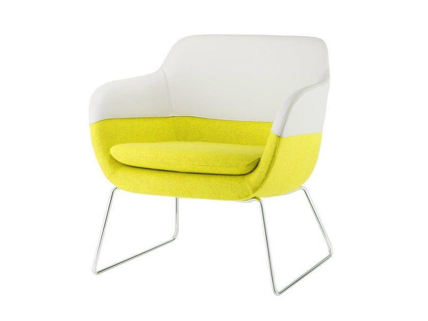 Sled base armchair with armrests CRONA LOUNGE | Sled base armchair by Brunner