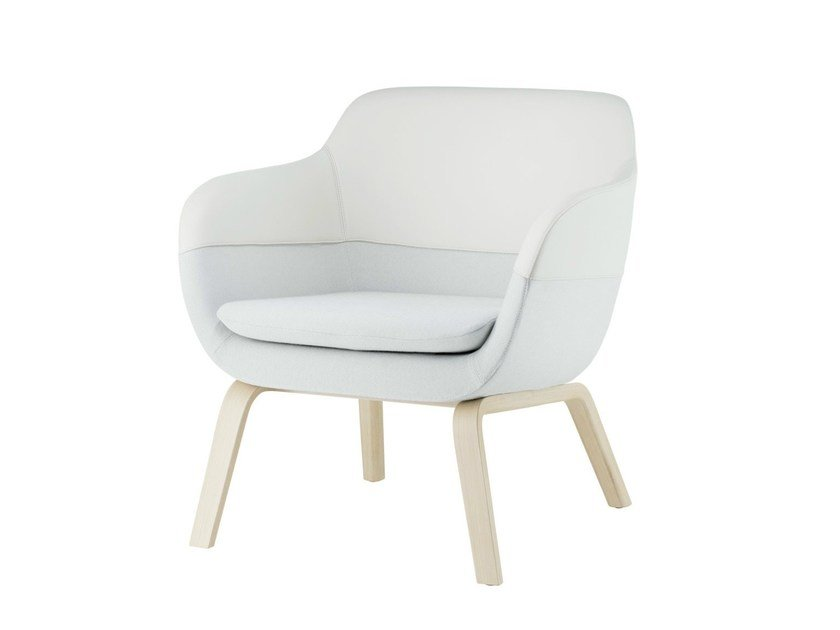 Upholstered armchair with armrests CRONA LOUNGE | Armchair with armrests by Brunner