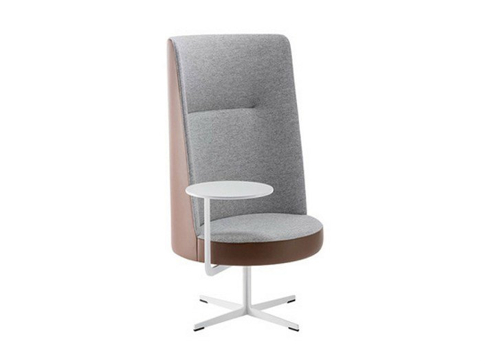 Easy chair with 4-spoke base high-back BANC | Easy chair high-back by Brunner