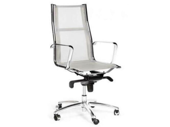High-back mesh executive chair with 5-spoke base TEKNIK-R by Castellani.it