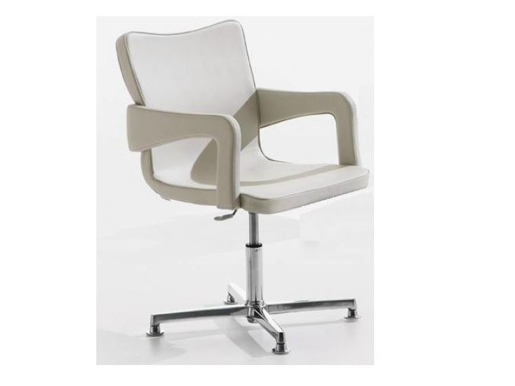 Contemporary style upholstered chair with 4-spoke base with armrests PATCH by Castellani.it