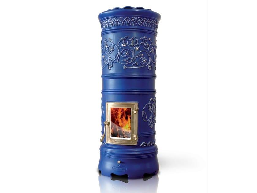 Wood-burning ceramic stove RONDÒ by LA CASTELLAMONTE