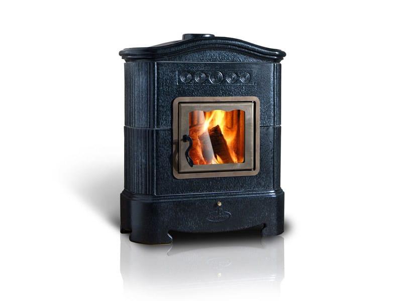 Wood-burning ceramic stove ELLISSE | Stove by LA CASTELLAMONTE