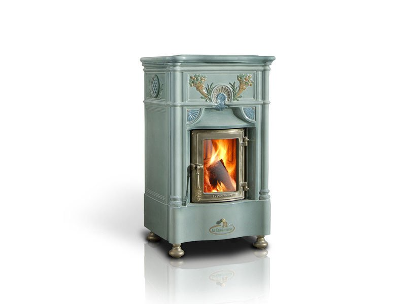 Wood-burning ceramic stove VENEXIANA by LA CASTELLAMONTE