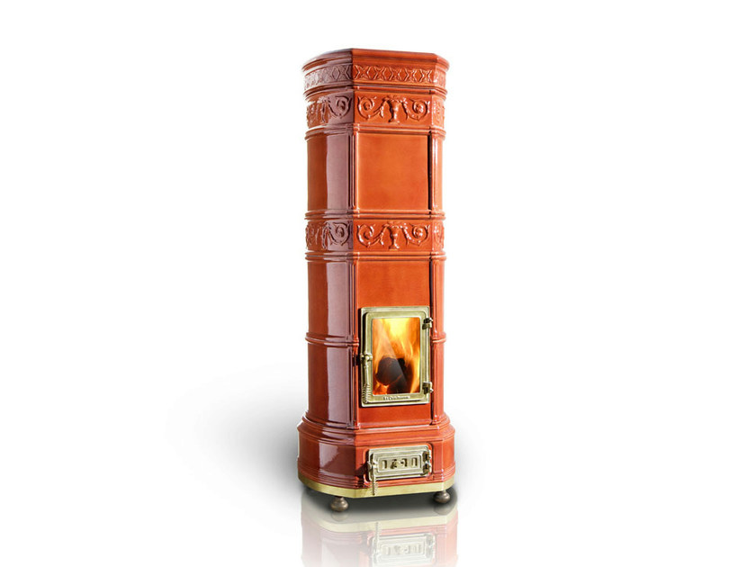 Wood-burning ceramic stove GRAND'OVALE | Stove by LA CASTELLAMONTE