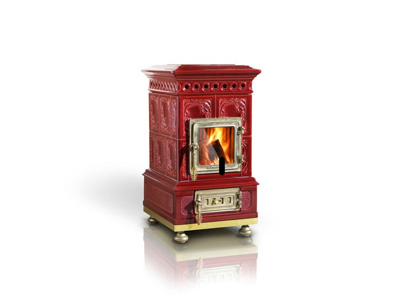 Wood-burning ceramic stove LIBERTY by LA CASTELLAMONTE