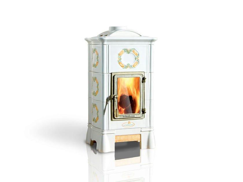 Wood-burning ceramic stove ONDA   Stove by LA CASTELLAMONTE