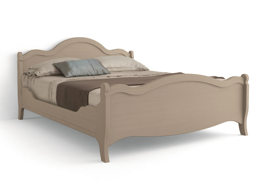Wooden double bed TABIÀ | Double bed by Scandola Mobili