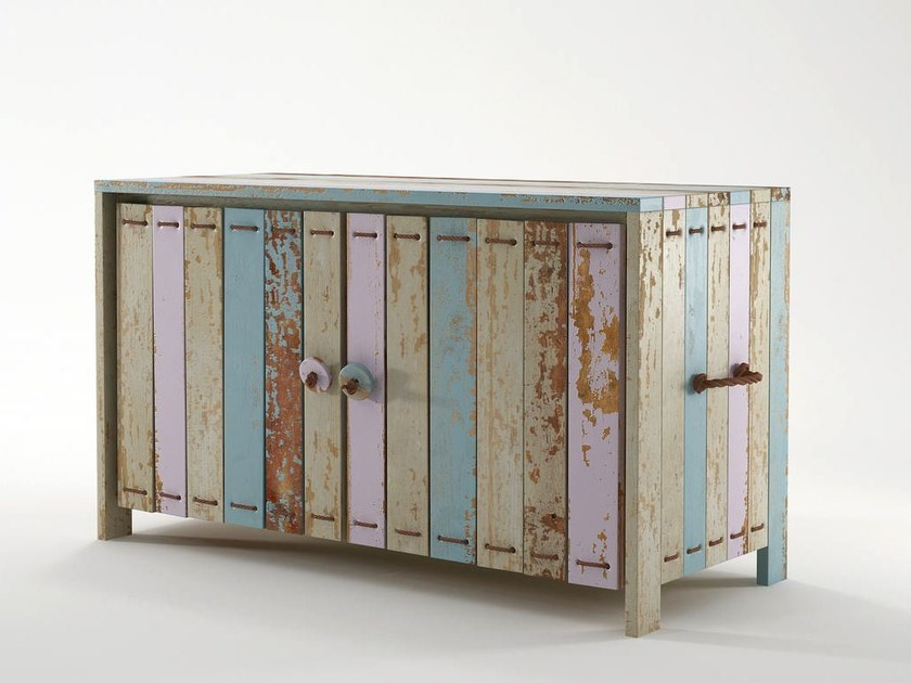 Wooden sideboard with doors ROPE ME | Sideboard by KARPENTER