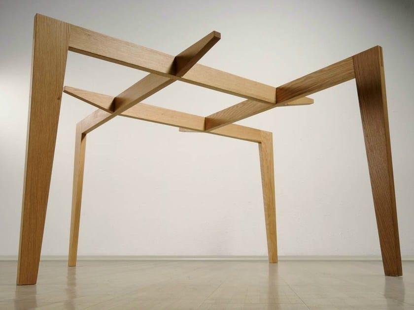 Tavolo quadrato in legno e vetro AUTOREGGENTE - Casamania & Horm