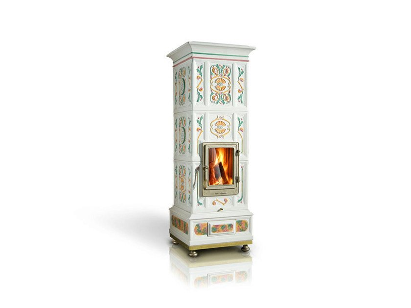 Wood ceramic Heating stove VIENNA | Heating stove by LA CASTELLAMONTE