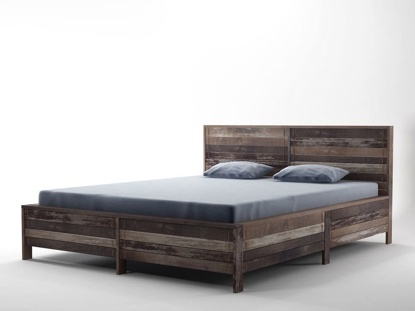Wooden queen size bed ROPE ME | Queen size bed by KARPENTER