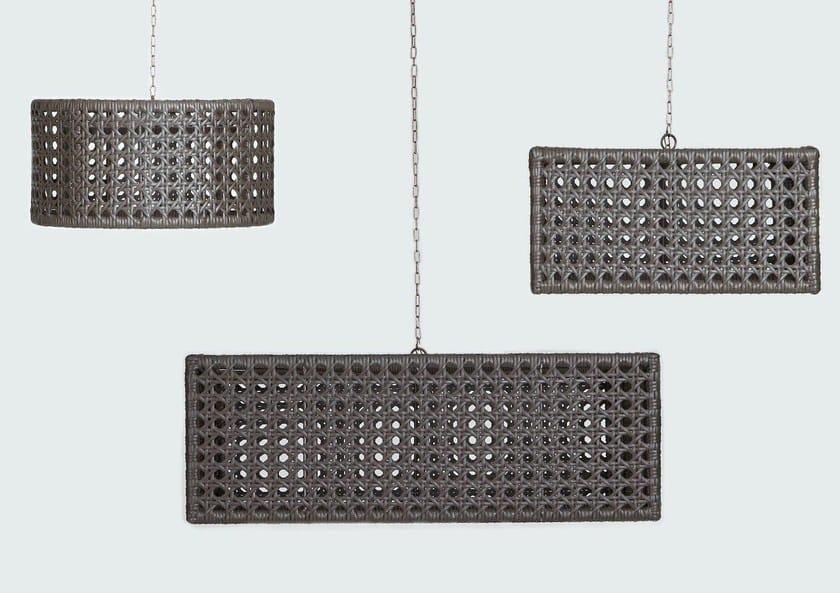 Handmade synthetic material pendant lamp WEZEN | Pendant lamp by Samuele Mazza by DFN