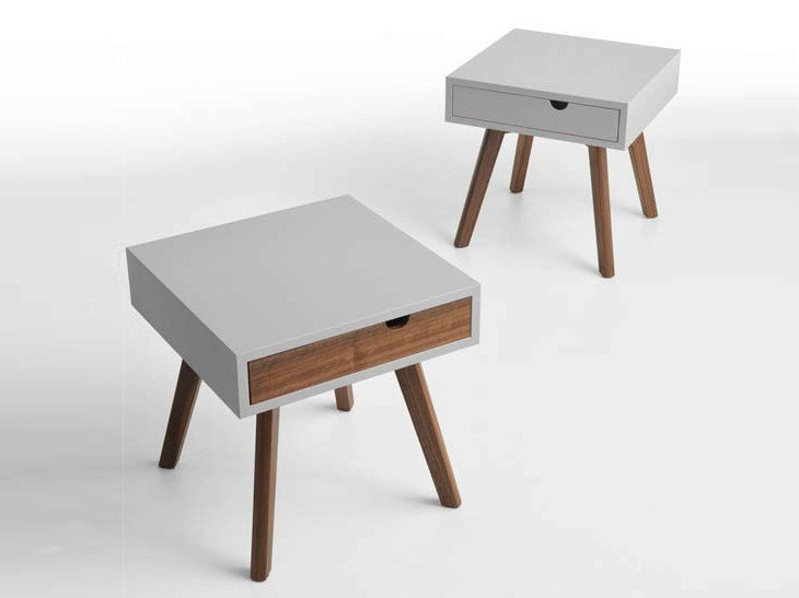 Wooden coffee table / bedside table IO E TE by horm