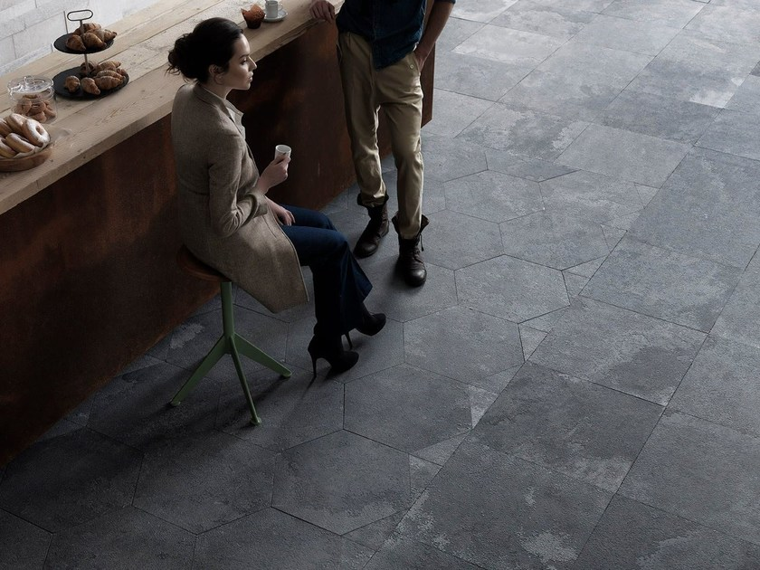 Slate wall tiles / flooring GRAFITE ORIGAMI by Artesia