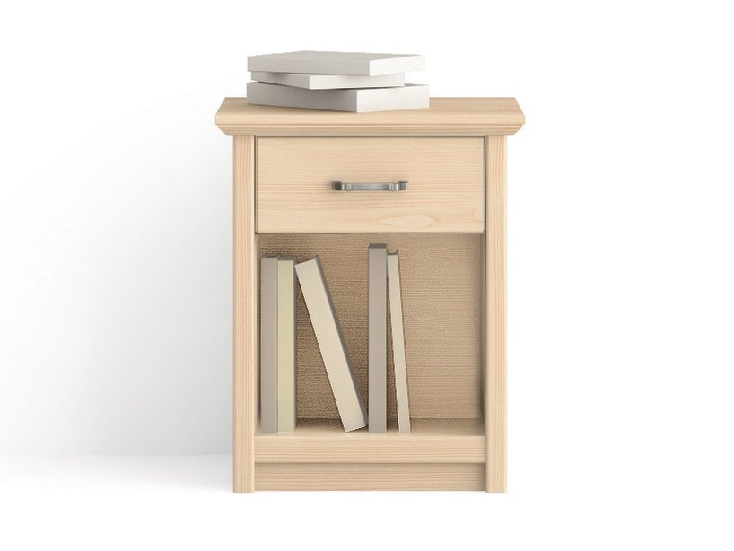 Rectangular wooden bedside table with drawers Bedside table with drawers by Scandola Mobili