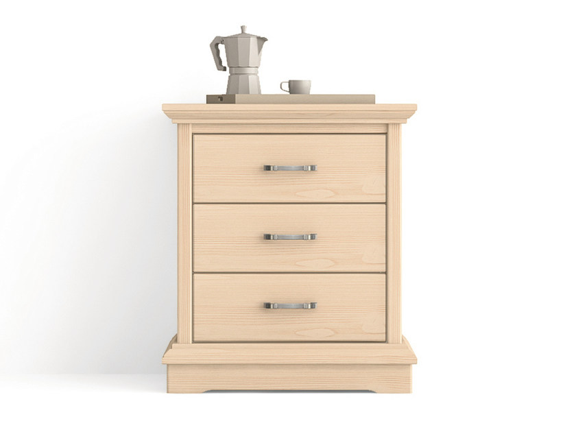Rectangular wooden bedside table with drawers ARIETTE | Bedside table with drawers by Scandola Mobili