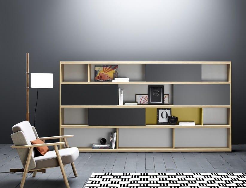Freistehendes Bücherregal Aus Holz LAU | Bücherregal By TREKU