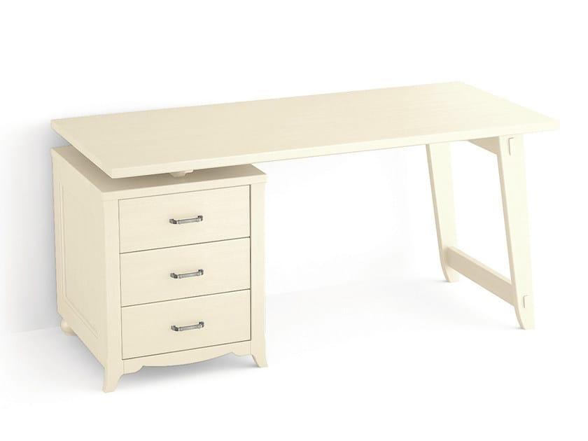 Classic style spruce writing desk TABIÀ | Writing desk by Scandola Mobili