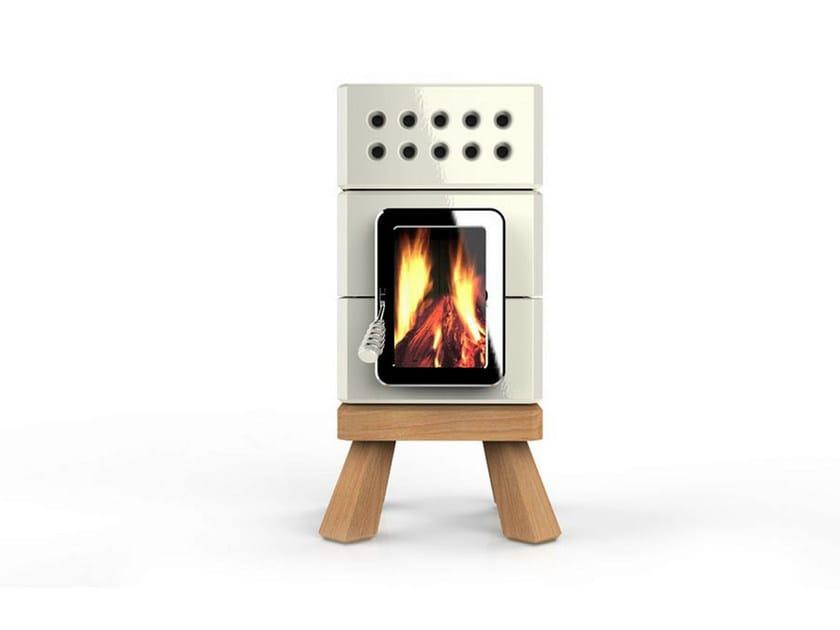 Wood-burning ceramic stove MINISTACK by LA CASTELLAMONTE