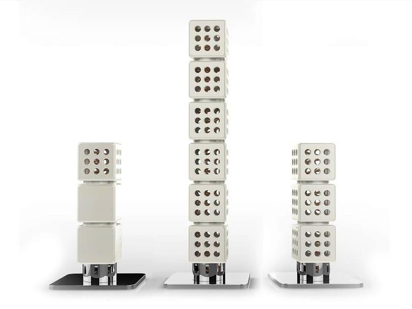 Modular ceramic decorative radiator THERMOSTACK TOWER by LA CASTELLAMONTE