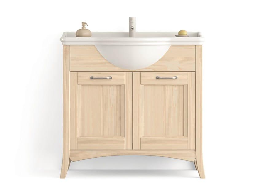 Wooden vanity unit with doors Vanity unit with doors by Scandola Mobili