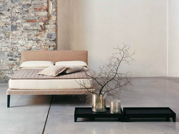 Fabric double bed EBRIDI | Fabric bed by Casamania & Horm