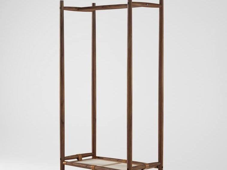 Wooden coat rack / shoe cabinet NOMAD | Wooden coat rack by KARPENTER