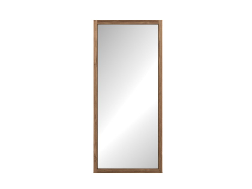 Freestanding rectangular framed mirror TEAK LIGHT FRAME | Mirror by Ethnicraft