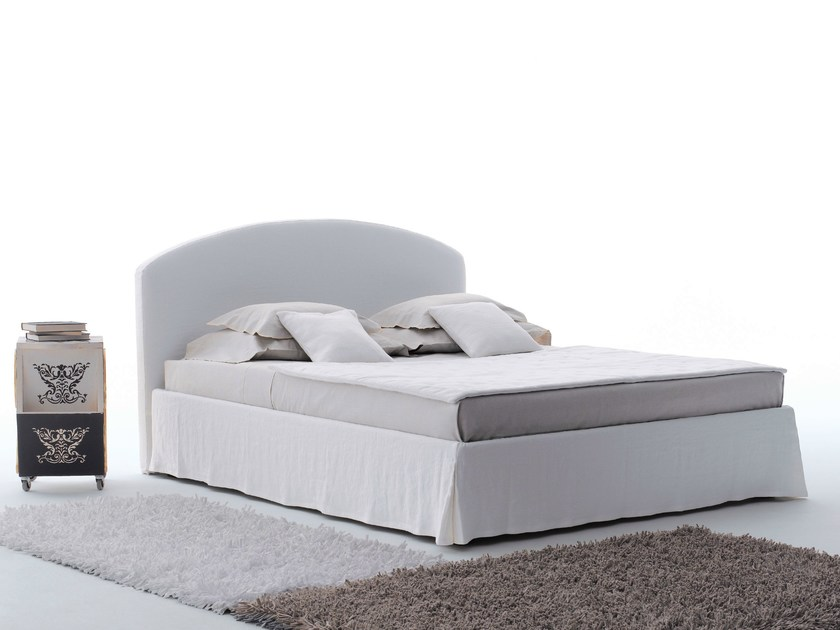 Double bed with removable cover LINOSA PLUS by horm