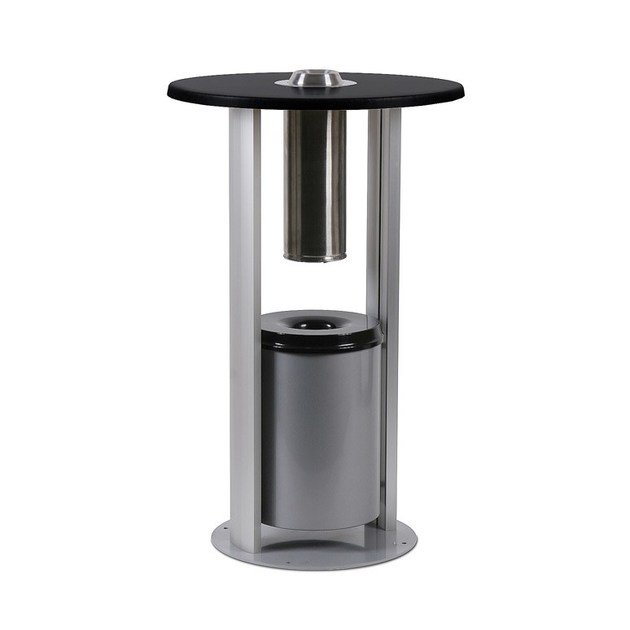 Steel ashtray SMT | Side table with ashtray by STUDIO T