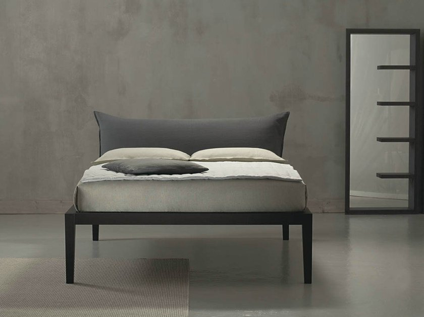 Double bed with upholstered headboard MOHELI ALTO by horm