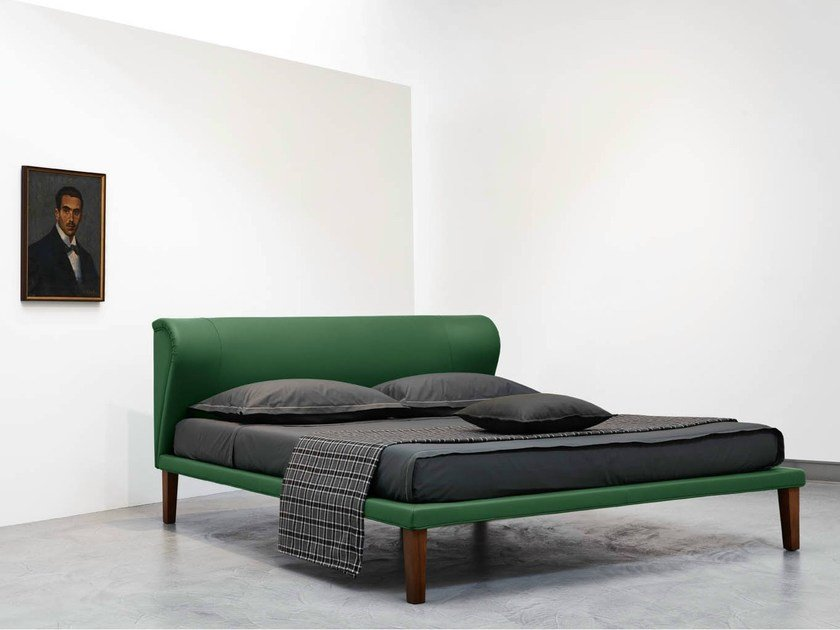 Double bed with upholstered headboard NAPOLEON by horm