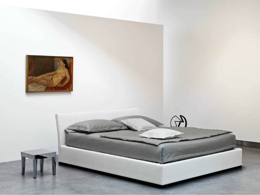 Fabric double bed with removable cover SIMILANDUE | Fabric bed by horm