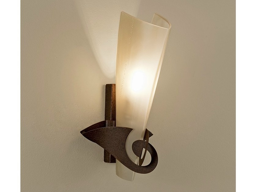 Blown glass wall light PHANTOM by TERZANI