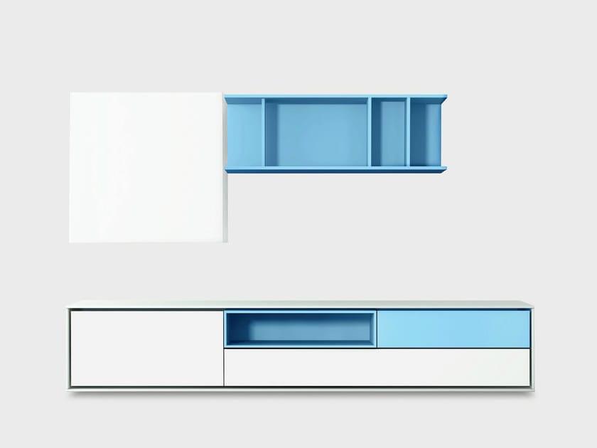 Contemporary style wooden storage wall AURA C4-3 by TREKU