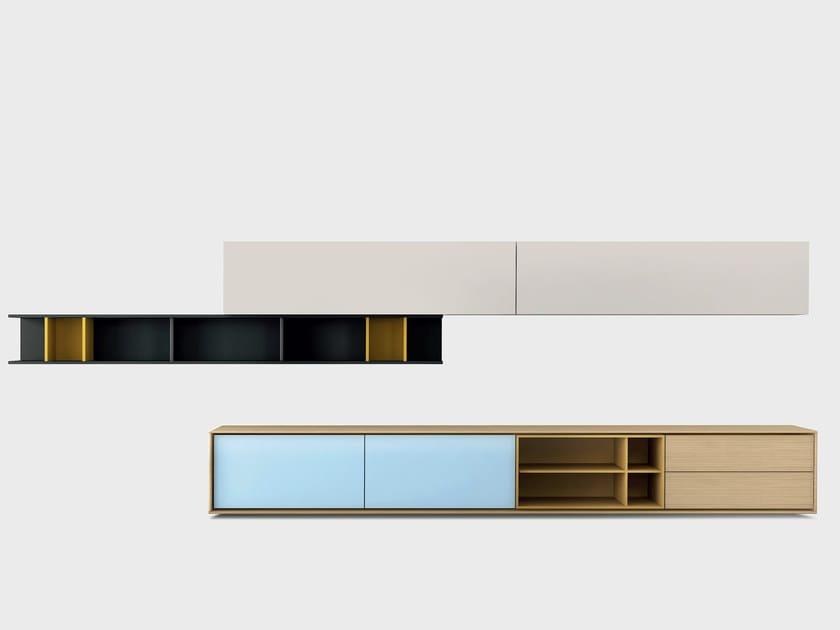 Contemporary style wooden storage wall AURA C7-2 by TREKU