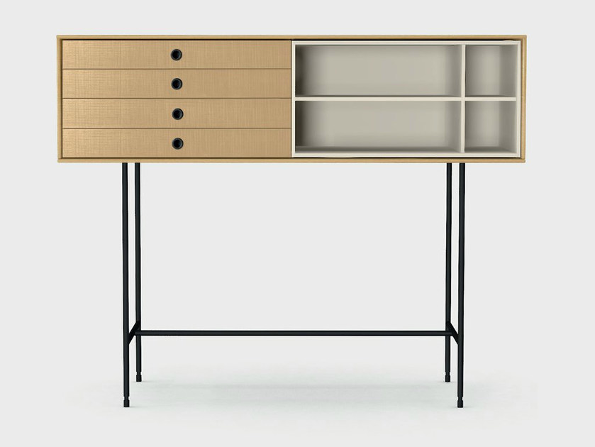 Wooden console table with drawers AURA S8-4 by TREKU