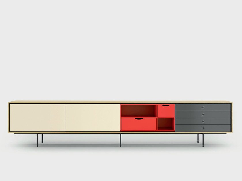 Contemporary style wooden sideboard AURA C9-3 by TREKU