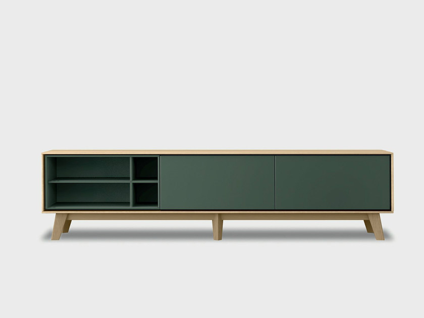 Lacquered solid wood sideboard AURA C2-3 by TREKU