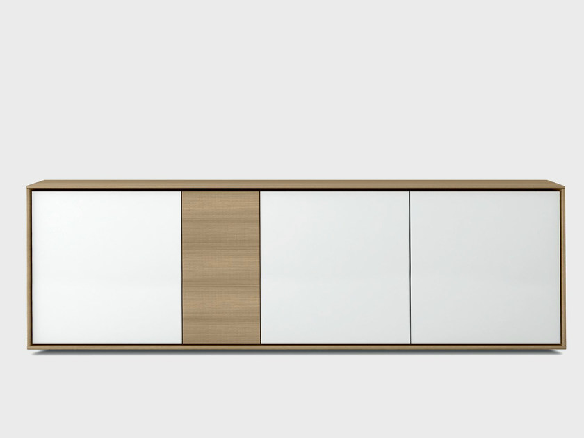 Lacquered solid wood sideboard AURA S3-2 by TREKU