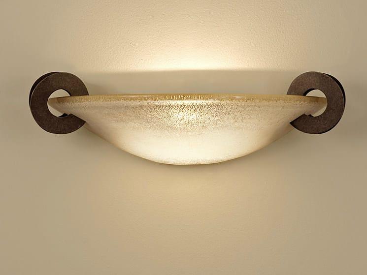 Halogen blown glass wall light SOLUNE | Wall light by TERZANI